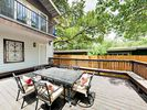 Deck - Expansive deck with dining table for 6, perfect for dinner beneath the stars.