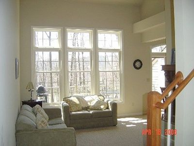 Big Boulder townhome rental - Beautiful Big Boulder views from family areas
