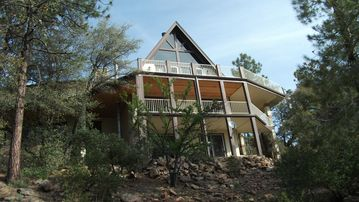 Pine cabin rental - Forest view of Hodge Lodge