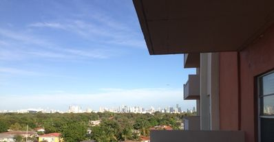 View of Downtown Miami from Balcony