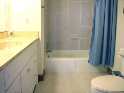 Every Bedroom has its own ceramic tile and solid surface Bath/Shower