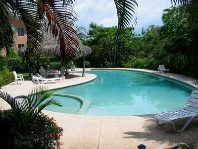 Bahia Langosta Pool - Shared pool with a rancho for shade and hammock to relax in