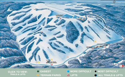 Afton Alps is a few miles up the road. Just purchased by Vail Resorts.