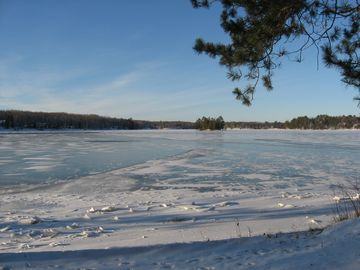 The lake in the winter.