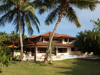 La Romana villa rental - Private terrace with pool, jacuzzi & pergola