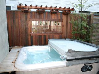 Santa Cruz house photo - Zen Hot Tub with Custom Trellis and Bamboo