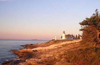 Pemaquid Point cottage photo - Early Morning Beautiful Pemaquid Point Lighthouse – Just over 100 yards away !