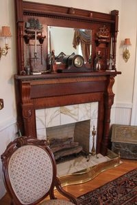 Parlour-original ornate fireplace
