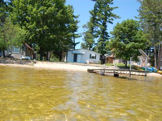 Black Lake house photo - Sand bottom and shallow, about 2' at the end of the dock.