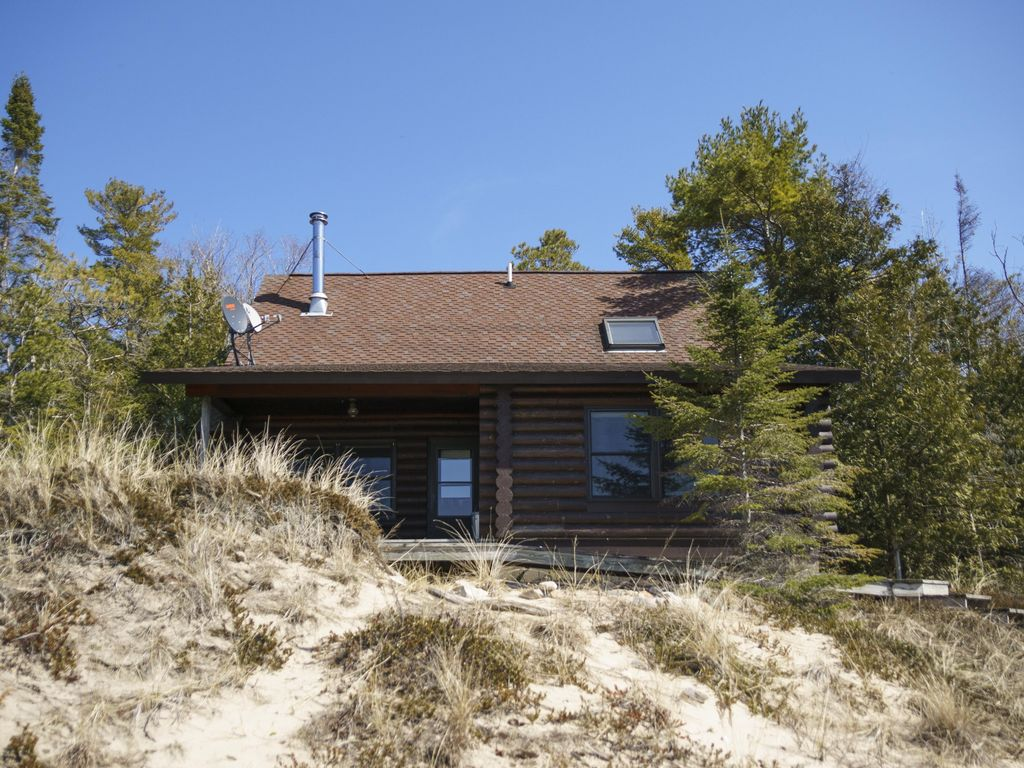 Secluded Lake Michigan Beachfront Cabin On Vrbo