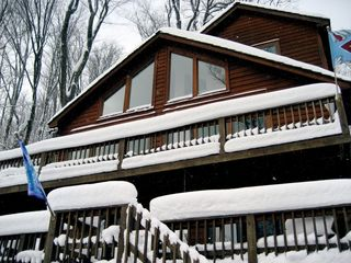 Canaan Valley chalet photo - Cinnamon Fern Chalet in January