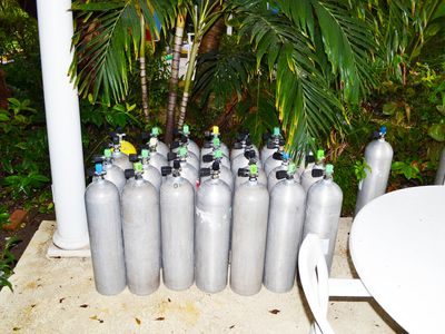 available air tanks on resort grounds