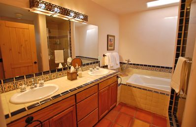 Master Bath with Double Sinks, Walk-In Shower and Soaking Tub