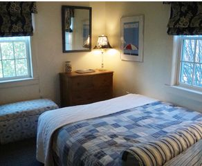 Surfside Nantucket house photo - Main level queen bedroom with cathedral ceiling