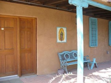 Albuquerque house rental - Front Porch, typical New Mexican.