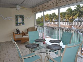 Duck Key house photo - Patio Shot Overlooking Dock