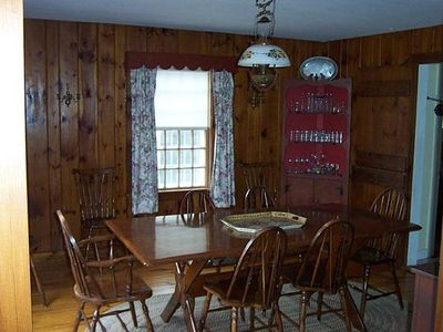 Little Compton farmhouse rental - Dining room