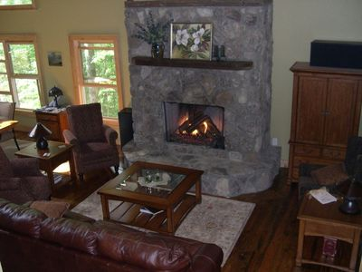 Enjoy a new gas log fireplace with remote control