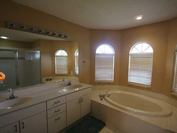 Master bathroom with large, walk-in shower stall (stall not in photo).