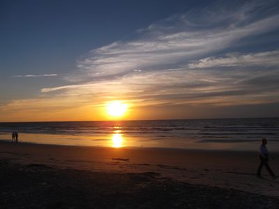 Enjoy a sunrise walk along the Atlantic Ocean or swim.