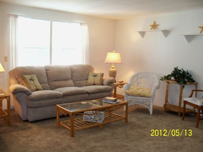 Another view of the Living Area. Sofa reclines on both ends.