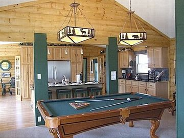 billiard area (between main living room area and kitchen)