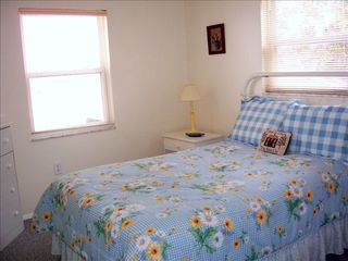 Redington Shores cottage photo - 2nd bedroom with full size bed and pillow mattress