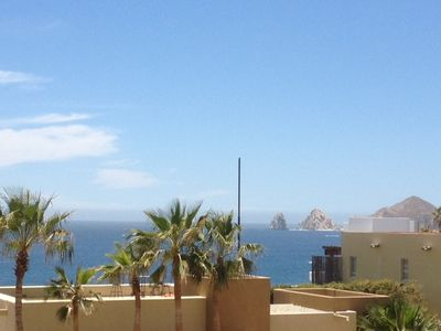 View of Land's End and Cabo's famous Arch from balcony.