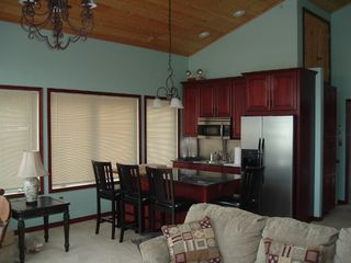Michigan City house photo - Kitchen opens to living area