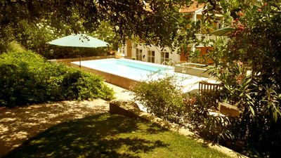 Beautiful large country house with pool for families or groups (10 min. To the beach)