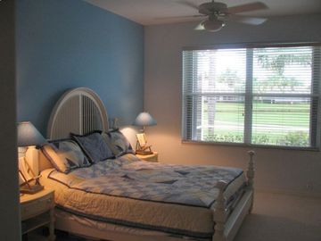 Master Bedroom has king bed and separate entrance to pool