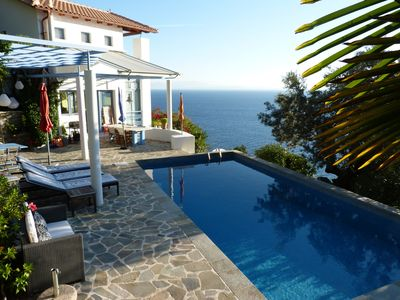 House with private swimming pool and sea, with outstanding view