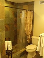 Cocoa Beach condo photo - Spa-like Master Bath w Shampoo, Cond. Shower Gels