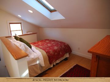 non private bedroom with double bed