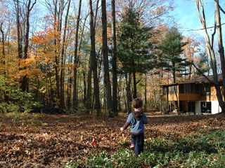 Fennville house photo - Fall fun in the backyard!