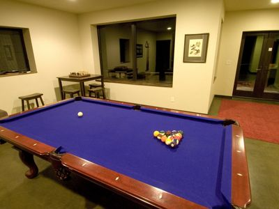 Lower level - pool room.