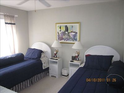 Second Bedroom. New for 2013: Flat panel TVs in both bedrooms!