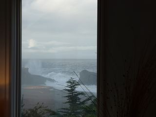 Bodega Bay cottage photo - View of wave crashing on Duncan's Landing prominance