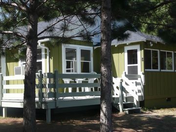 St Germain cottage rental - 3 season porch, plus a wrap around deck on this cute cottage close to the water.
