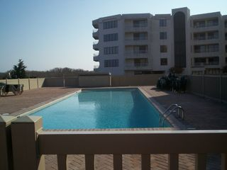 Brigantine condo photo - Late afternoon by the pool.