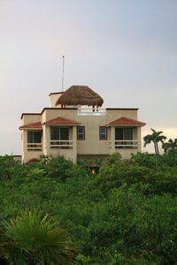 View of Villa Arrecife across the jungle from the beach access road.