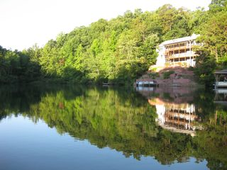Hot Springs Village house photo - Lake front house with private swim area, fishing area and boat dock.