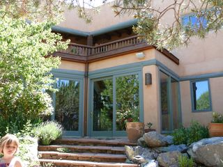 Taos estate photo - Patio with gardens and outdoor grills