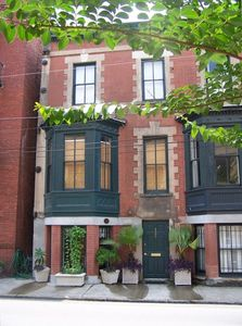 The Hideaway is in an 1852 Townhouse built by Julia Tucker.