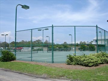 Two lighted tennis courts!