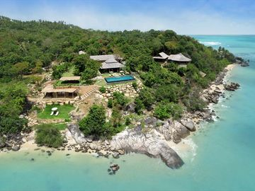 Laem Set beach estate rental - Samudra Aerial View