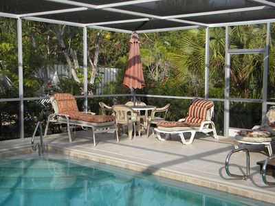 Sanibel Island house rental - Pool Deck and rear Yard