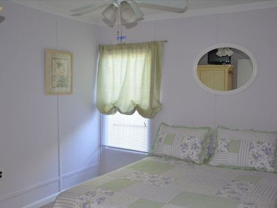 Master Bedroom Sleeps 2 and has a Flat Screen TV
