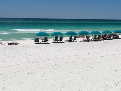 Gulfside beach - private beach with beautiful emerald waters and white sand...