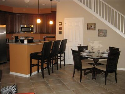 Dining area, breakfast bar, pantry and kitchen